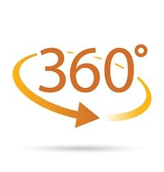 360 orange vector image