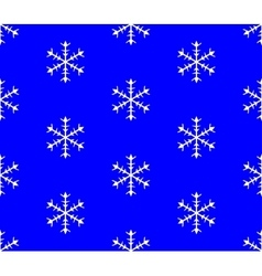 Background of snowflakes Seamless Winter vector image vector image