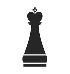 chess piece king flat object on a white vector image vector image