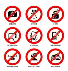 No media signs vector image vector image