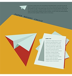 Paper Rocket Create for business template concept vector image