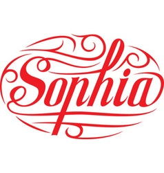 Sophia floral name vector image vector image