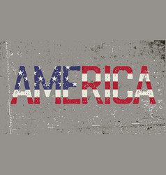 america grunge word sign vector image vector image