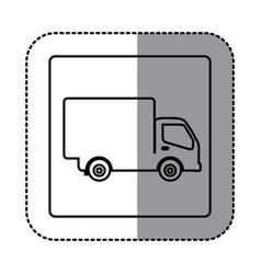 figure emblem delivery car icon vector image