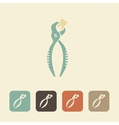 Forceps for removal of teeth icon vector image vector image