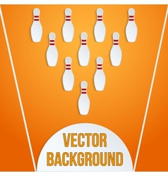 sport with paper bowling pins and ball vector image