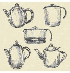coffee pots vector image