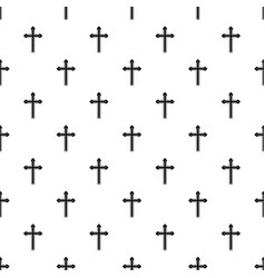 holy cross pattern vector image