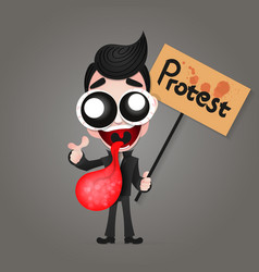protest demonstration people vector image