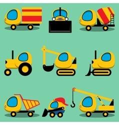 Set of toy cartoon vehicles vector image vector image