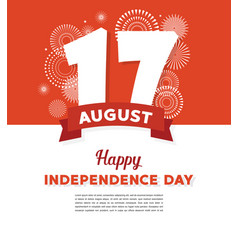 17 august indonesia happy independence day vector image