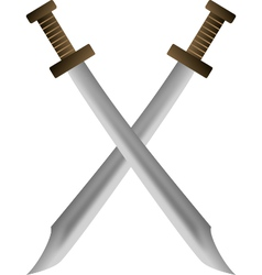 2 swords crossing vector