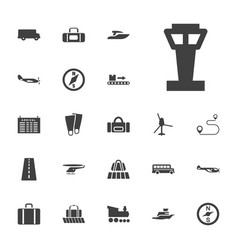 22 trip icons vector
