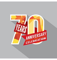 70th Years Anniversary Celebration Design vector image