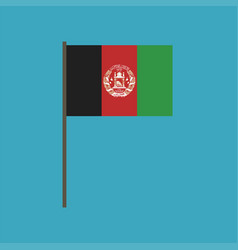 afghanistan flag icon in flat design vector image