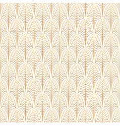 Art deco seamless pattern gold on white vector