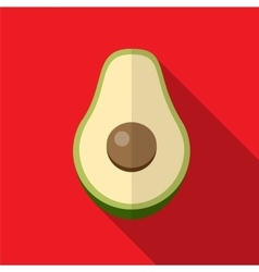 Avocado flat icon vector image