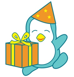 Birthday Penguin vector image