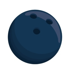 Blue ball bowling sport shadow icon vector