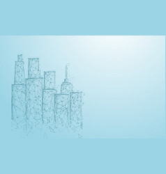 Building and city form lines triangles vector
