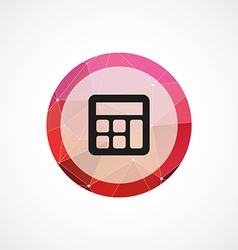 Calculator circle pink triangle background icon vector