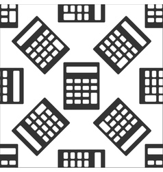 Calculator icon pattern vector image