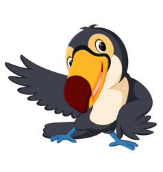 cartoon bird toucan good posing vector image