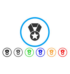 champion medal rounded icon vector image vector image