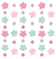 colorful flowers vector image