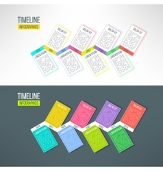 colorful timeline template infographic vector image