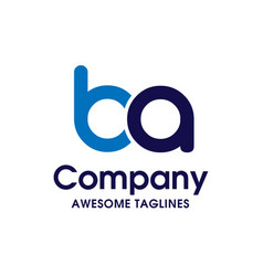 Creative letter ba logo design elements vector