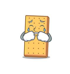Crying graham cookies mascot cartoon vector