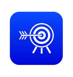darts icon digital blue vector image