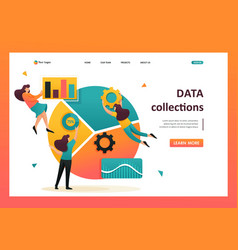 Data collection and employees flat 2d character vector
