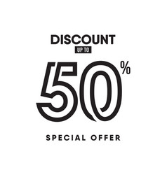 Discount label up to 50 special offer template vector