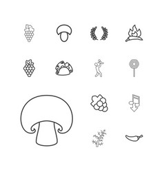 Eating icons vector
