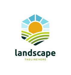 farm food logo design icon vector image