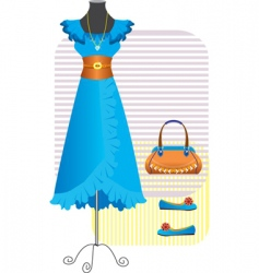 fashion clothes for woman vector image