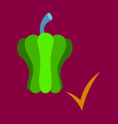 Flat icon of colored and sweet bulgarian bell vector