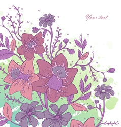 Flowers back vector