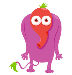 Funny monster fantasy character cartoon vector