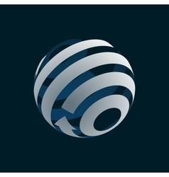 Globe Logo Element symbol of Globalization vector image