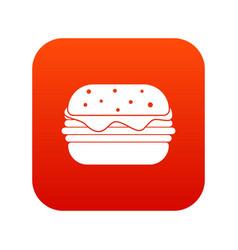 hamburger icon digital red vector image