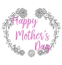 Happy mother day frame collection vector