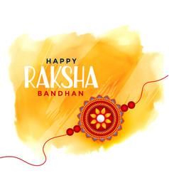 Happy raksha bandhan watercolor background vector