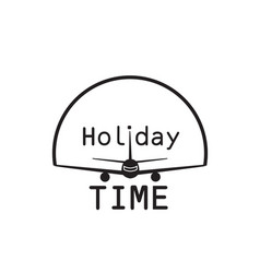 Holiday time landing plane background image vector