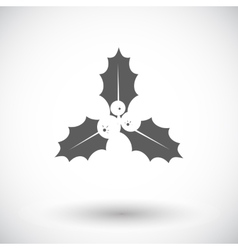 Holly berry flat icon vector image