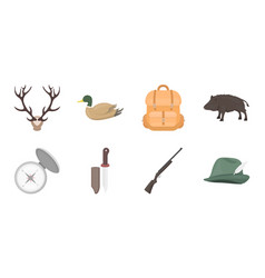 hunting and trophy icons in set collection for vector image