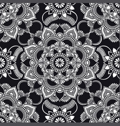 kaleidoscope mandala pattern ethnic ornament vector image