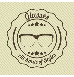 kinds and styles of glasses design vector image vector image